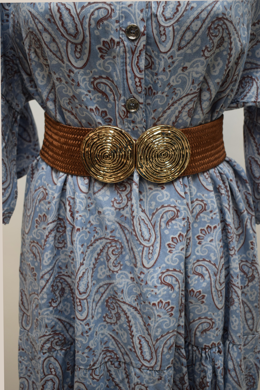 Jeanskleid gemustert hellblau