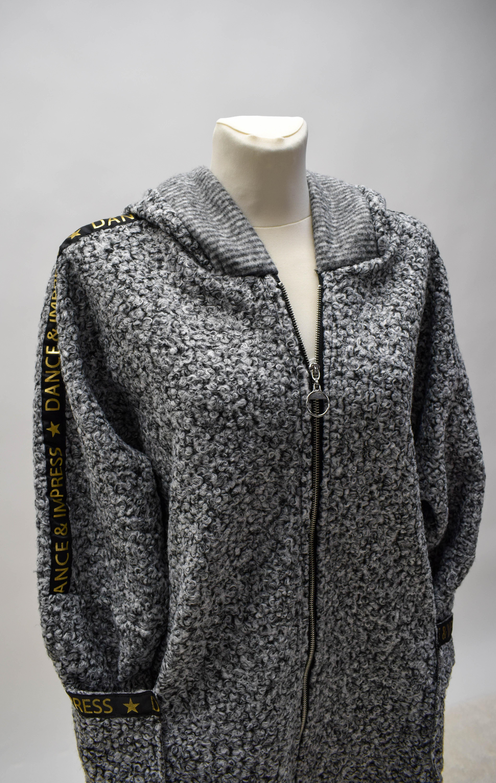 Mantel hellgrau/weiß miliert
