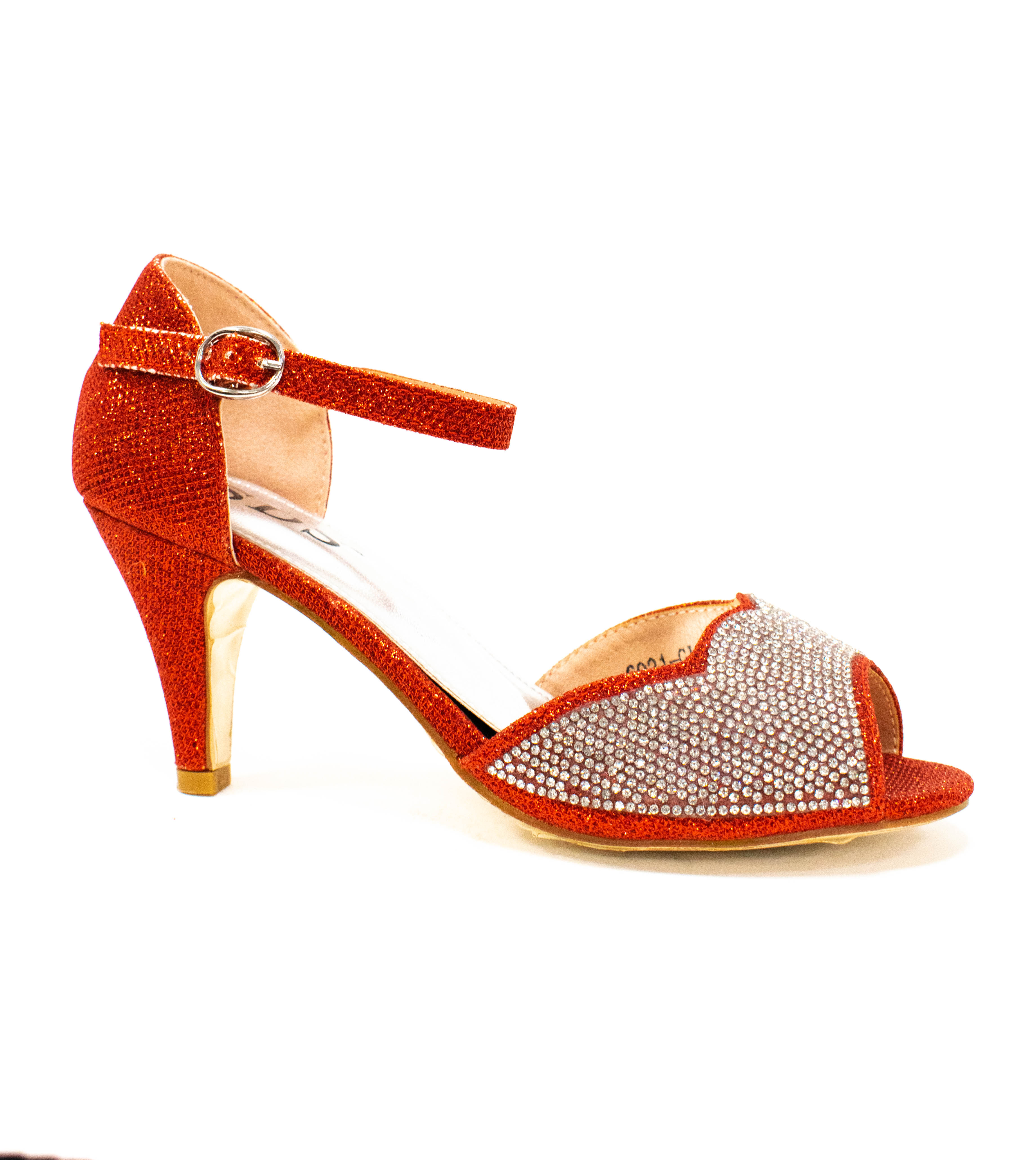 Roter Pumps mit Strass