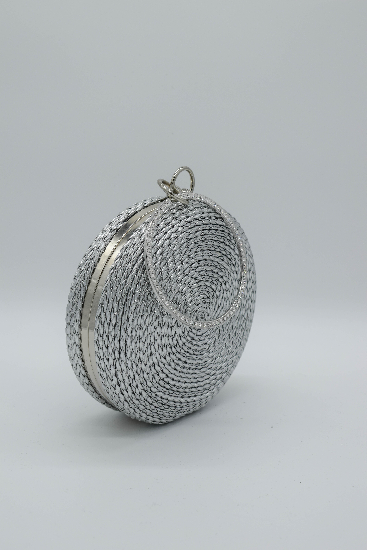 Runde Tasche Kordel-Optik