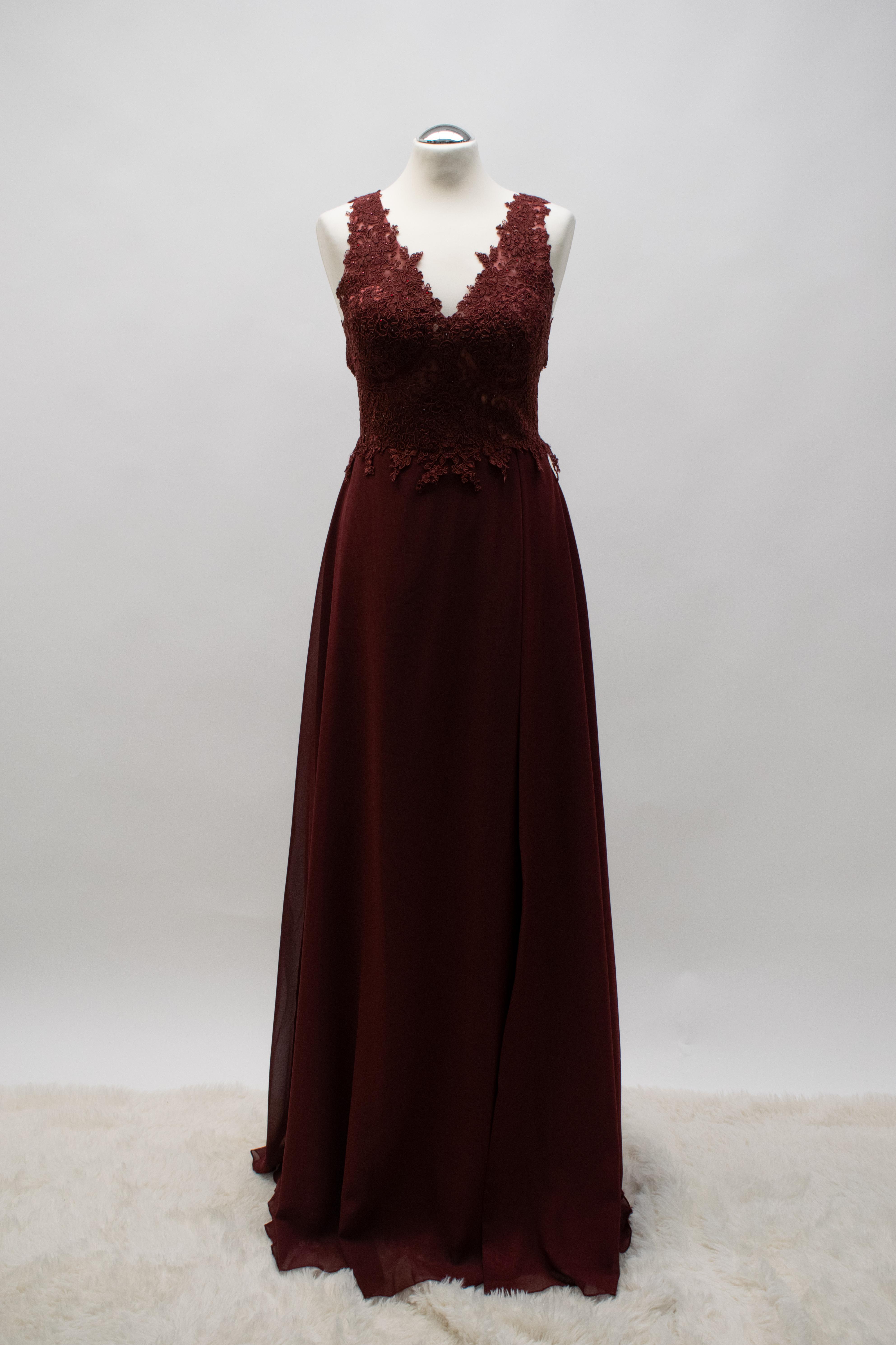 Abendkleid Bordeaux Chiffon ab XXS