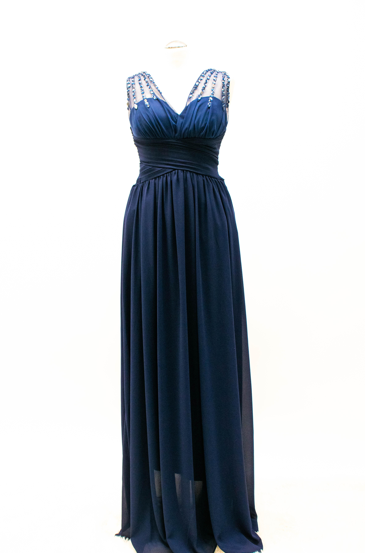 Abendkleid Chiffon Marineblau