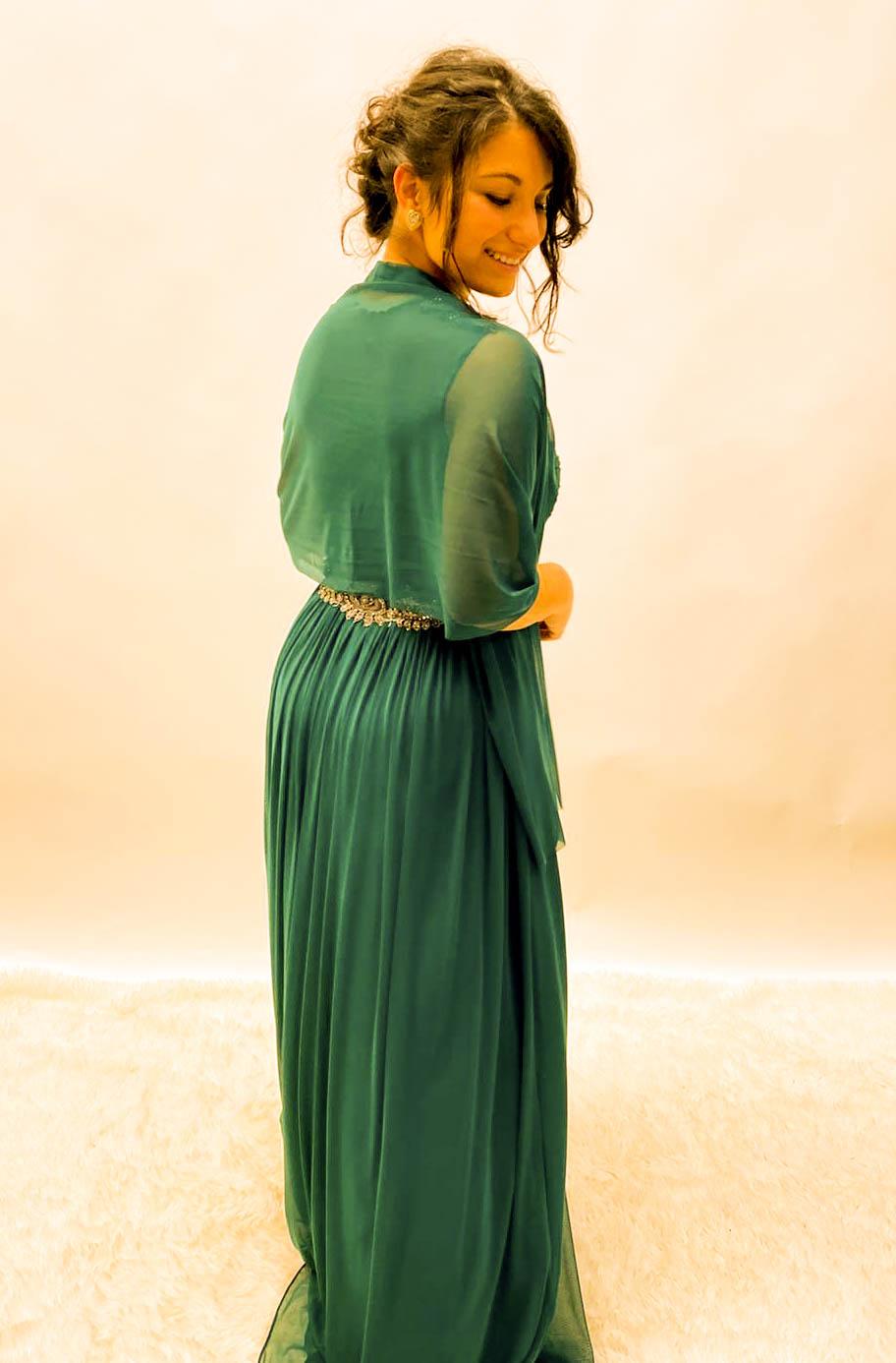 Abendkleid Lang Grün