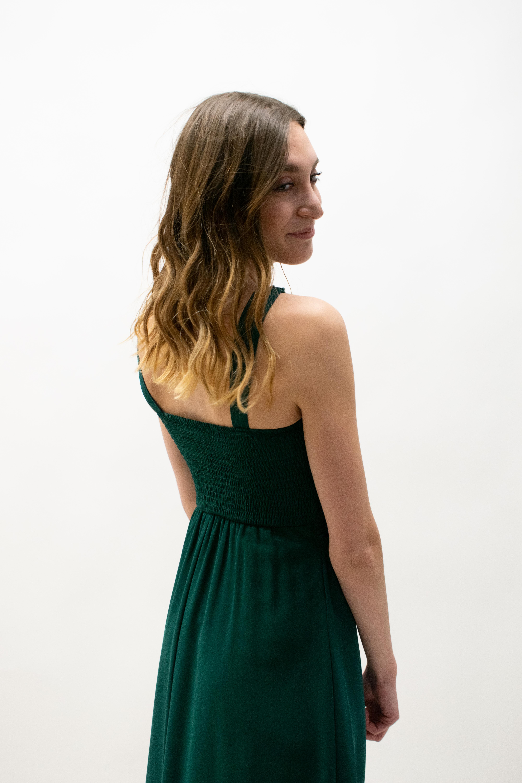 Kurzes Kleid in Grün mit Strass