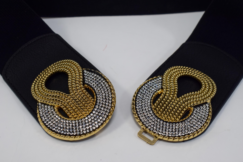 Stretch Gürtel gold/schwarz