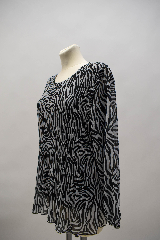 Bluse Chiffon Zebramuster