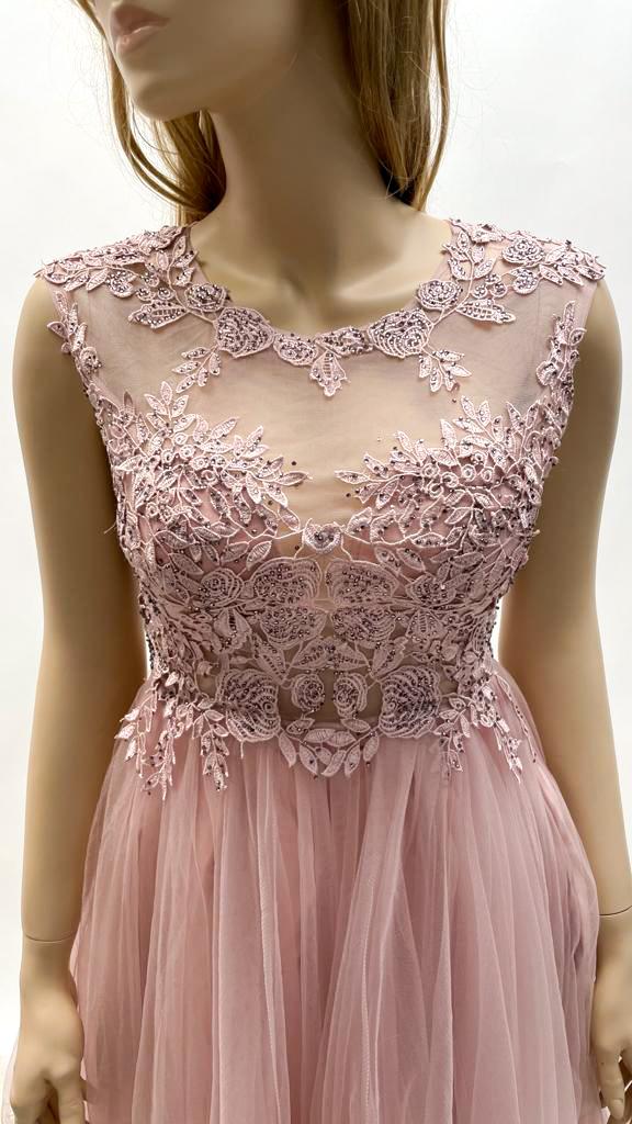 Kurzes Kleid in Beige, Tannengrün, Rot & Royalblau
