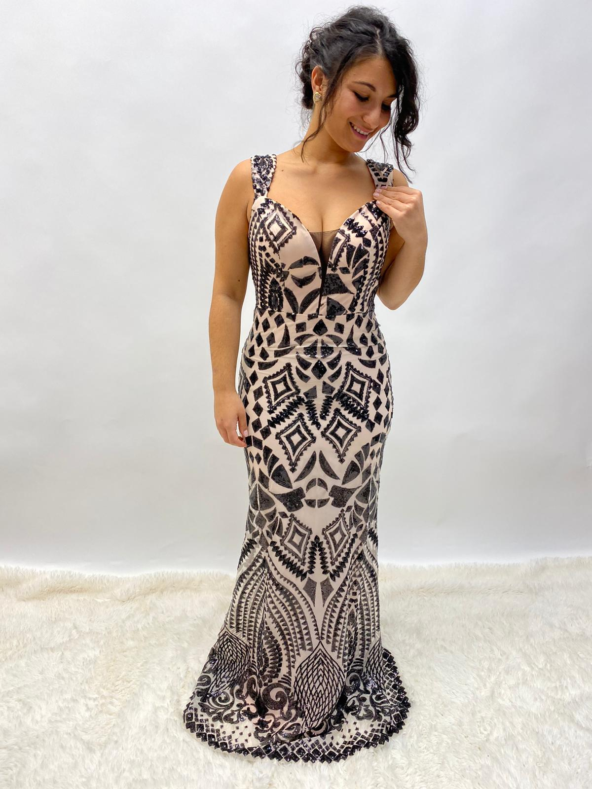 Abendkleid Pailletten Meeresjungfrau