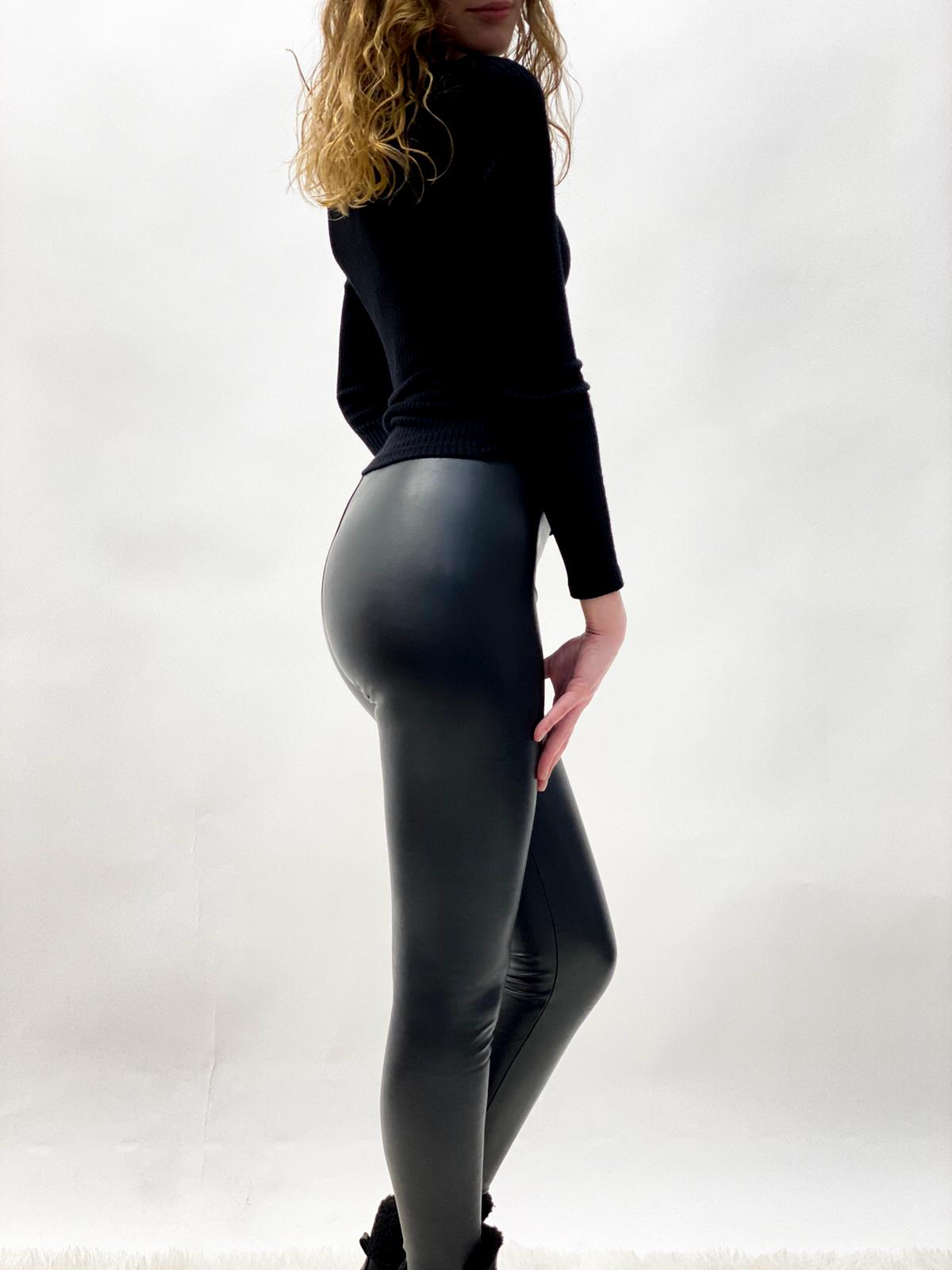 Legging lederoptik