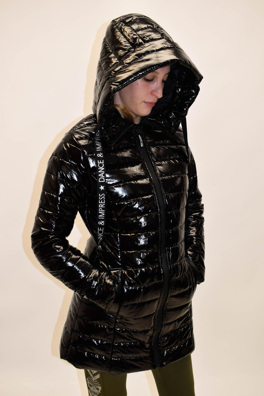 Mantel kurz Lack ohne Pelz