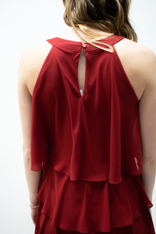 Kurzes Kleid in Rot mit Strass