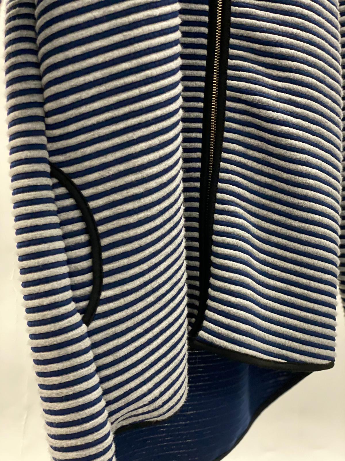 Übergangsjacke blau-grau gestreift
