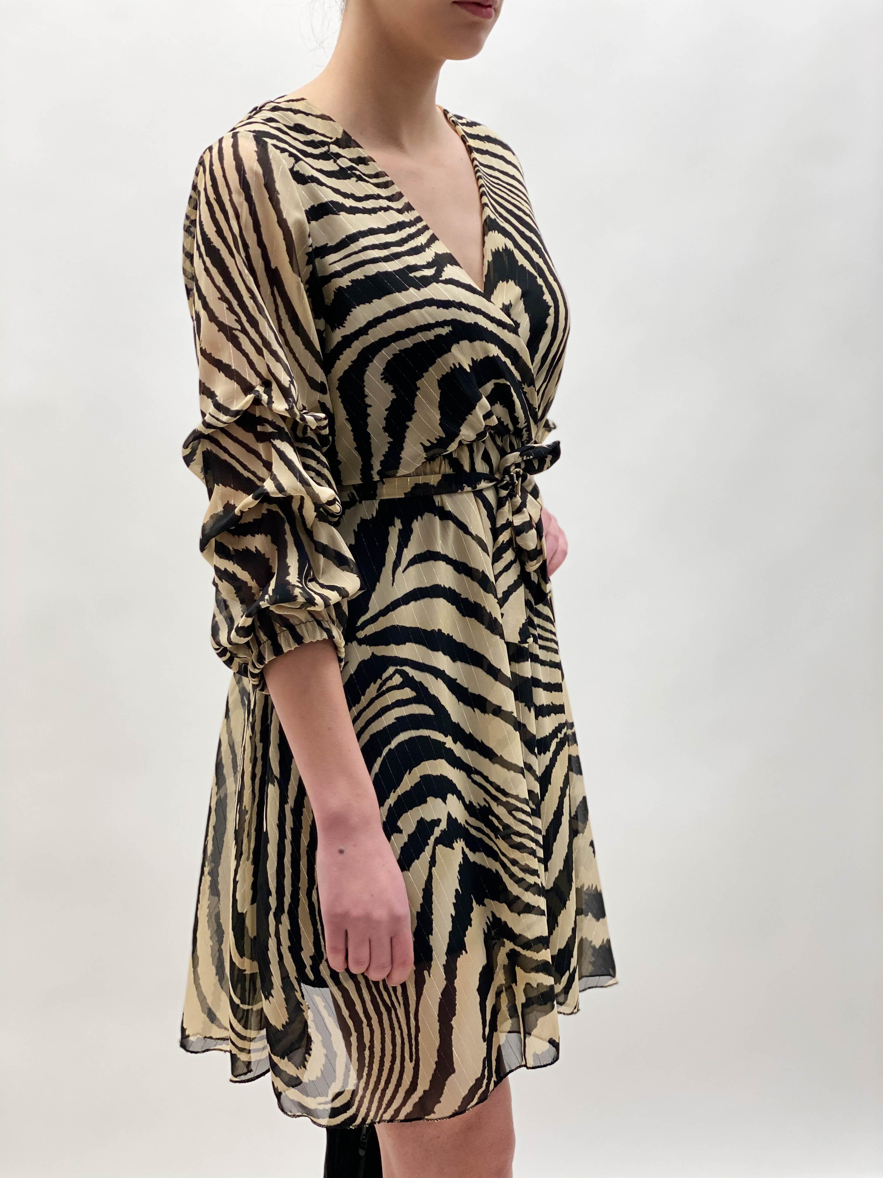 Kleid Zebra Chiffon